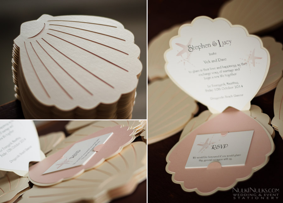 Sea Shell-themed Wedding Invitations and Accessories ...