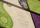 Asian & Chinese Fusion Wedding Invitation Insert Cards