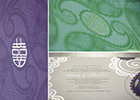 Asian & Chinese Fusion Wedding Invitation - Raised Print Details
