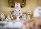 Wedding Dessert Table with Cake