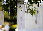 Hanging Wedding Table Plan with Flower