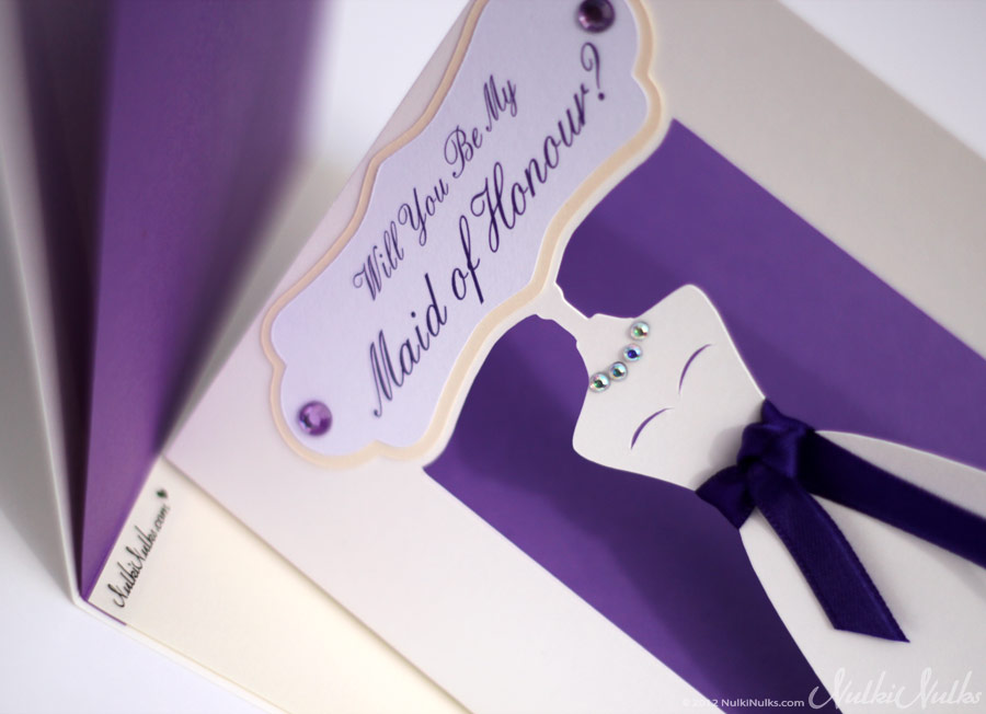 Bridesmaid 3D Wedding Invitations | Real Weddings Stationery by ...