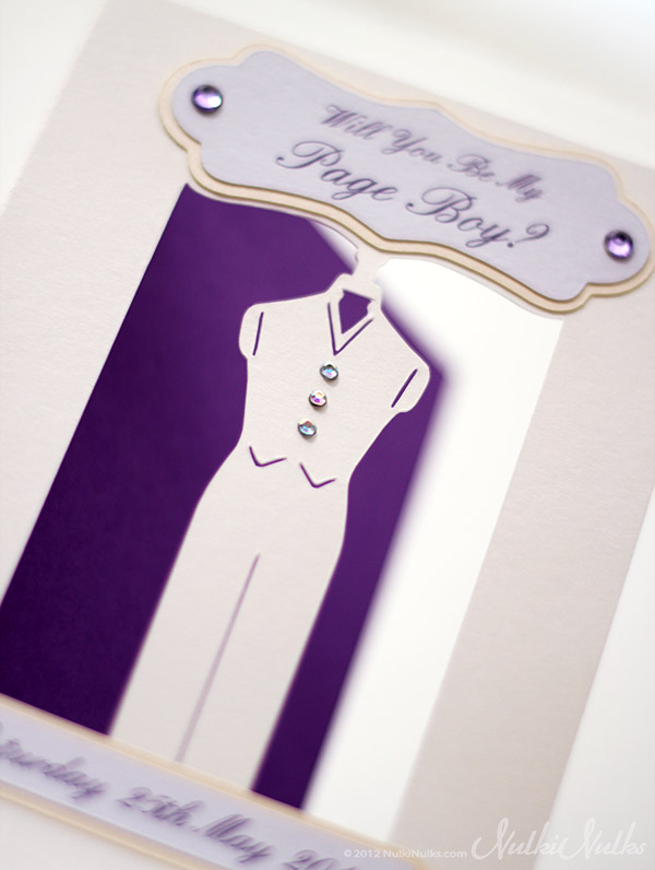 Cut-out 3D Bridesmaid Wedding Invitations