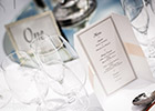 Wedding Table Number and Menu in Marbella Club Hotel