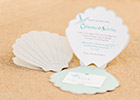 Shell-shaped Wedding Invitations in Turquoise