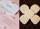 Sea Shell Wedding Invitations with RSVP
