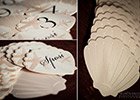 Sea Shell Wedding Table Numbers