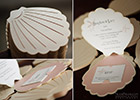 Wedding Invitations in the shape of a sea shell