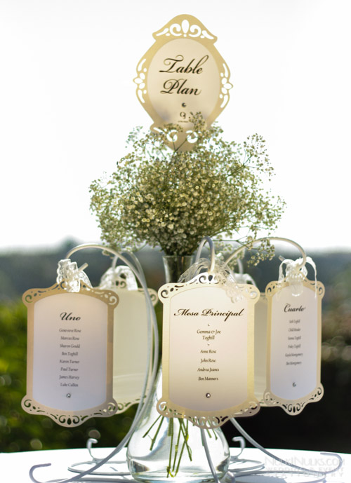 Wedding Table Plan with cut-out edges