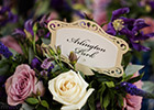 Wedding Table Name and flower centrepiece