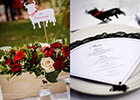 Wedding Menu and Bull-shaped Name Card in Flamenco style