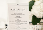 Modern and Elegant Wedding Menu