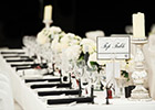 Modern and Elegant Wedding Table Name
