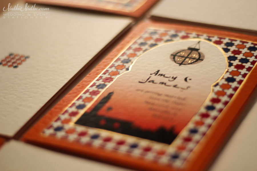 Moroccan Style Wedding Invitations And Save The Date Cards