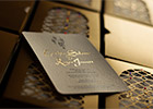 Moroccan Wedding Invitation with Gold-stamped names