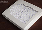 Moroccan Wedding Invitation Suite - cutout design in silver