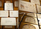 Moroccan Wedding Invitation Suite with Gold-stamped names