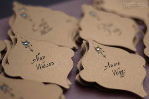Moroccan-style Wedding On-the-Day Stationery and Accessories