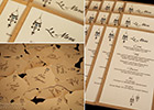 Moroccan Wedding Menu and Place Cards
