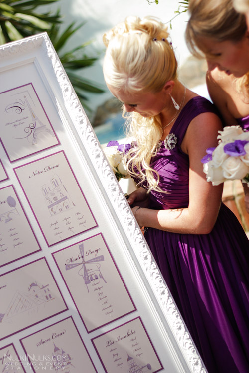 Wedding Table Plan with Parisian theme