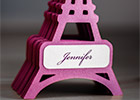 Wedding Place Cards in the shape of Eiffel Tower