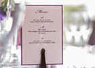 Wedding Menu with Eiffel Tower