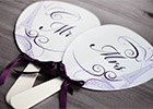 Wedding Paddle Fan with Parisian motifs