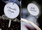 Periwinkle Blue Wedding - Candy Bar Labels