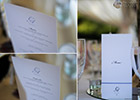Periwinkle Blue Wedding - Menu