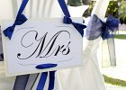 Simple and Stylish Villa Wedding Theme - Mr & Mrs Signs