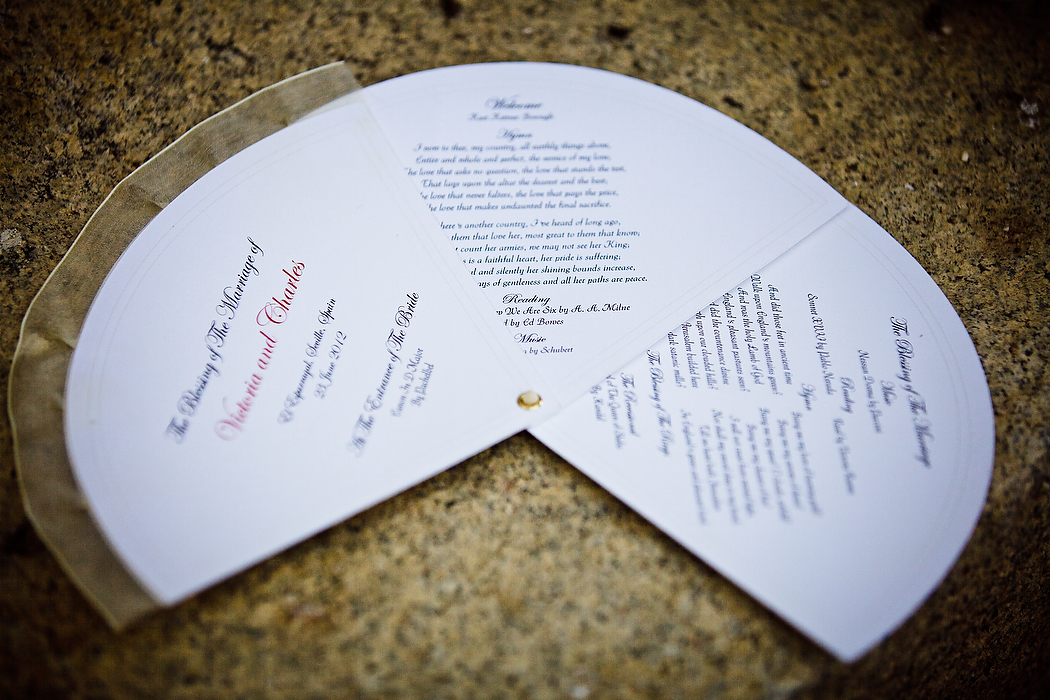 Wedding Order Of The Day: Real Weddings Stationery By