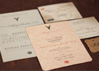 Bespoke Vintage-feel Wedding Invitation Suite