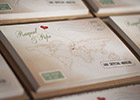 Vintage-look Wedding Invitation with map