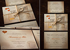 Vintage-style Wedding Invitation Suite