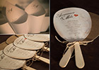 Vintage-style Wedding Paddle Fans & Confetti Cones