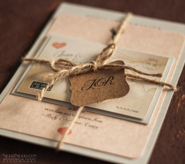 Vintage Wedding Travel Theme
