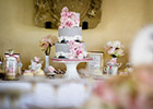 Wedding Dessert Table with Cake and Tags