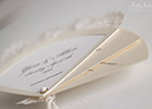 Wedding Invitation Fan showing Card Stock detail