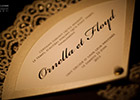 Wedding Invitation Fan - close-up image