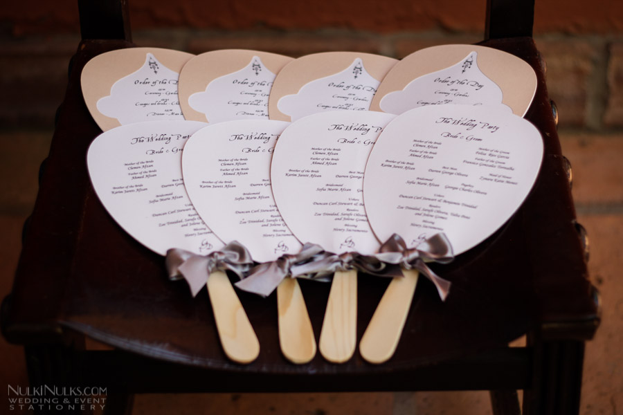 Wedding Paddle Fans | Real Weddings Stationery by Nulki Nulks