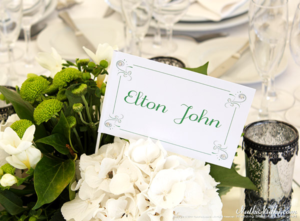 White and Green Wedding Theme